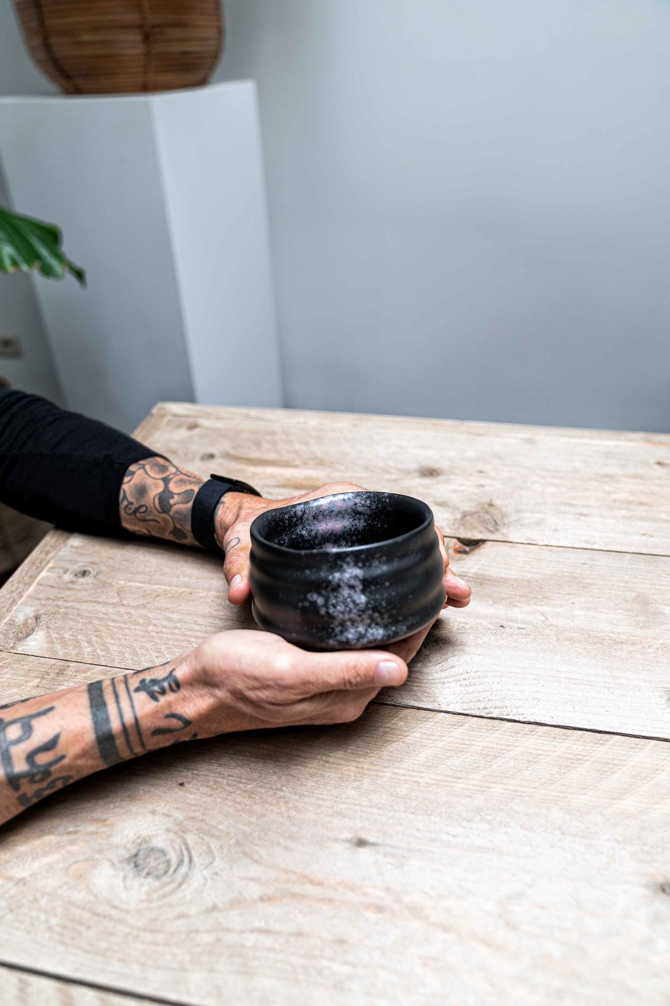 Matcha bowl - ribble matt zwart/roze