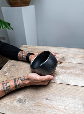Matcha bowl - design black