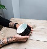 Matcha bowl - ribble matt zwart/wit
