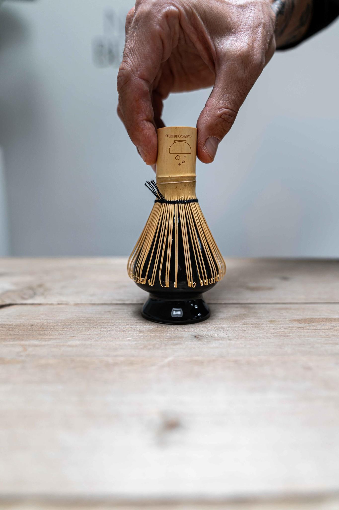Matcha whisk holder - black