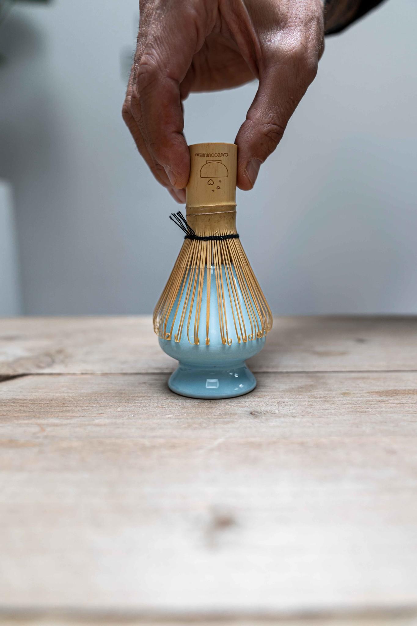 Matcha whisk holder - blue