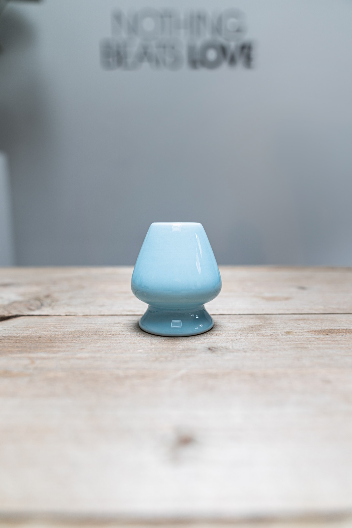 Matcha whisk houder - blauw