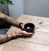 Porcelain Matcha bowl  - clean shiny black