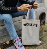 WAY OF LIFE cotton bag (wit)