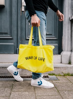 WAY OF LIFE cotton bag (geel)