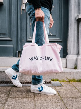 WAY OF LIFE cotton bag (roze)
