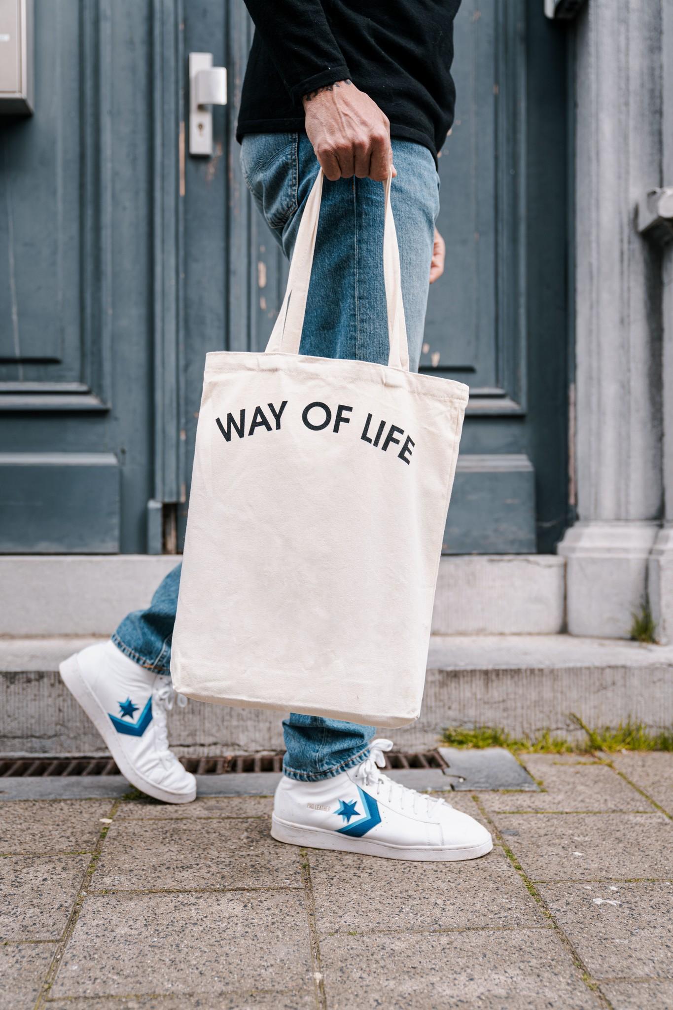 WAY OF LIFE cotton bag (white)