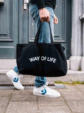 WAY OF LIFE cotton bag (black)