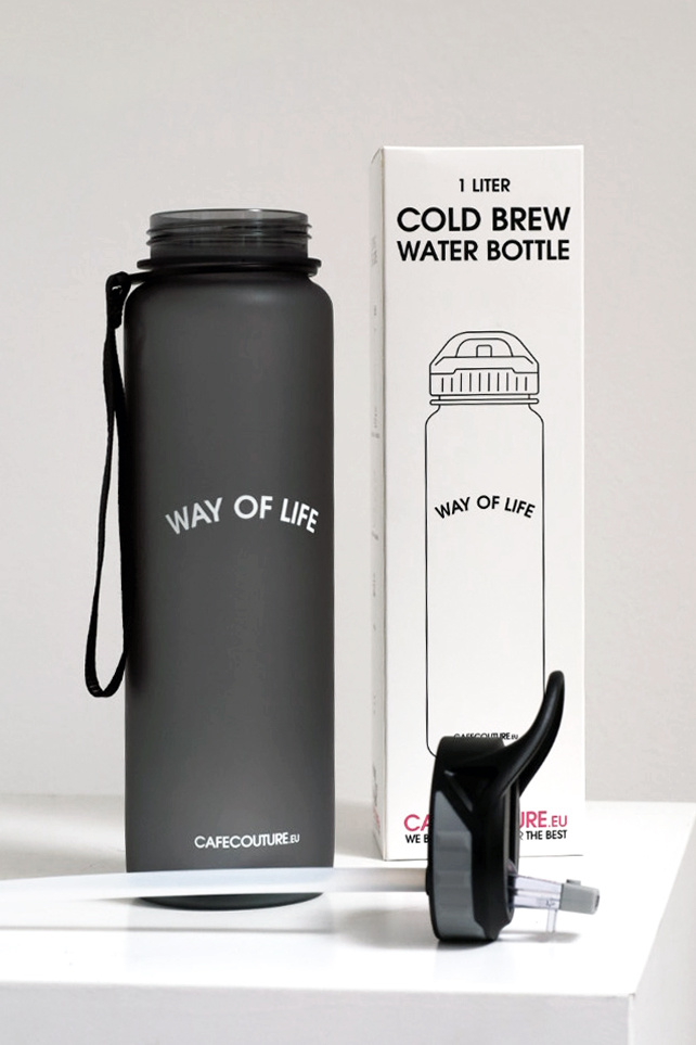 WAY OF LIFE cold brew bottle (1 liter - with straw)