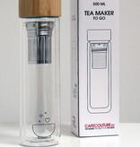 Whole leaf tea glass travel infuser
