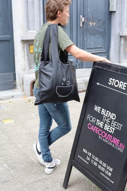 Cafe Couture reusable logo bag