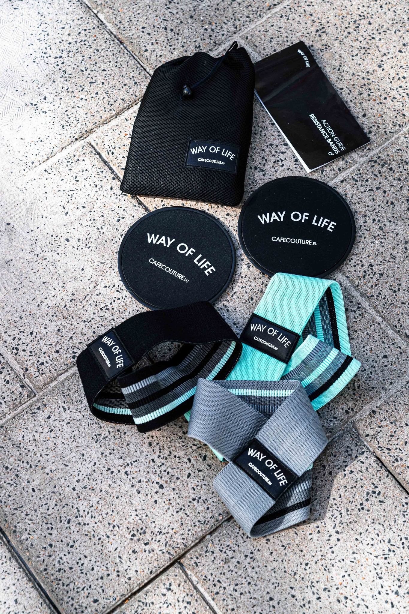 WAY OF LIFE resistance bands & sliding pads (M)