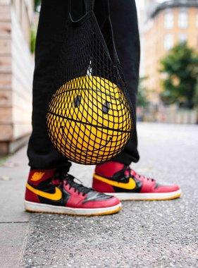 SMILEY basketbal (geel - 100% leer)