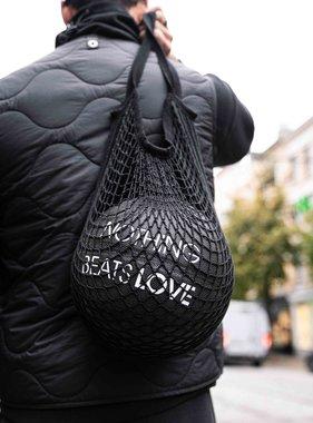 Nothing beats Love basketbal (zwart - semi leer)