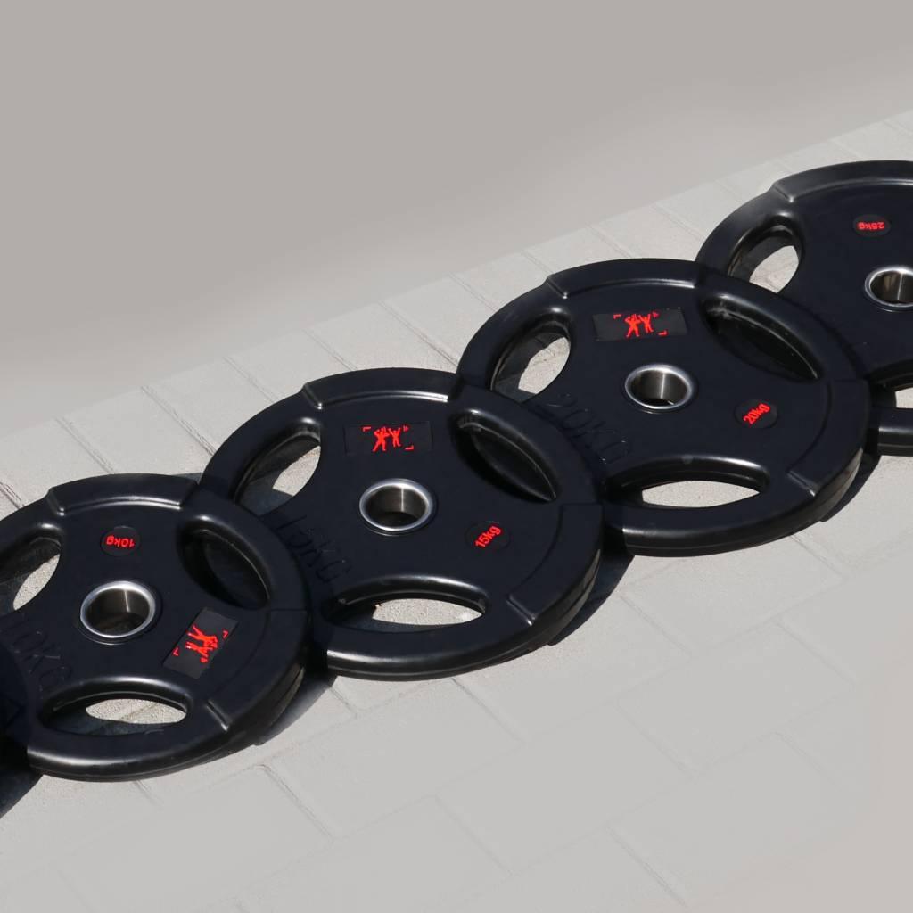 Olympia Hantelscheiben (51 mm)   Gummiert   schwarz