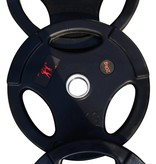 Olympic weight plates (51 mm) | Gummed | Black
