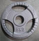 Olympia Hantelscheiben (51 mm) | Graualuminium, lackiert