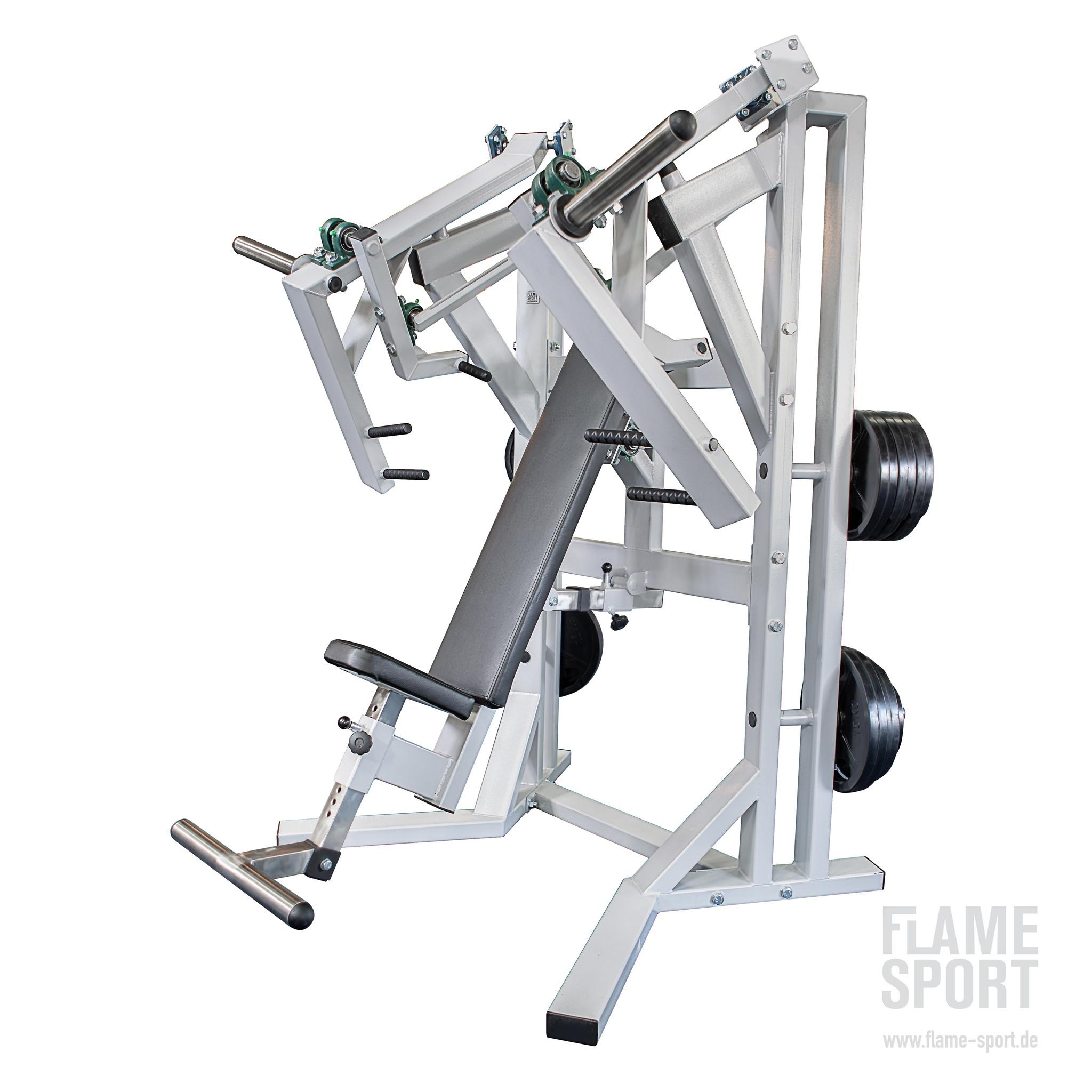 Brustpressmaschine & Schulterpresse (6AXX2P) mit verstellbarer Rückenlehne und Beinstütze
