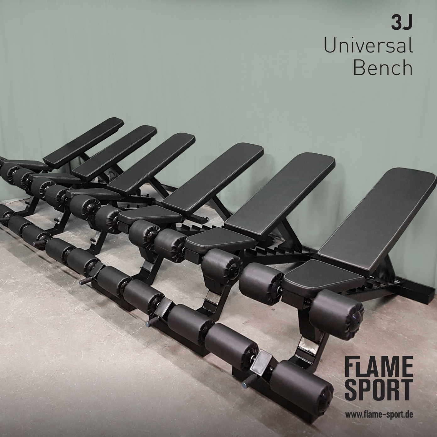 Universal Bench (3J), with transport wheels