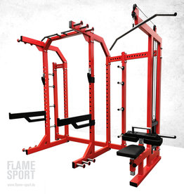 The Half Rack with Plate Loaded Lat Pulldown (9BX)