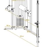 Kabelzugstation (2CX2) mit verstellbaren Laufrollen und Lehne