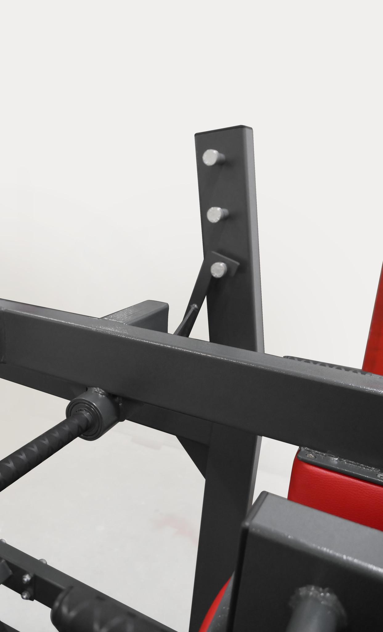 Pendulum squat (3RX)  with adjustable platform