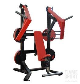 Brusstpressmaschine (6AXX2) sitzend mit verstellbarer Rückenlehne und Sitztiefe