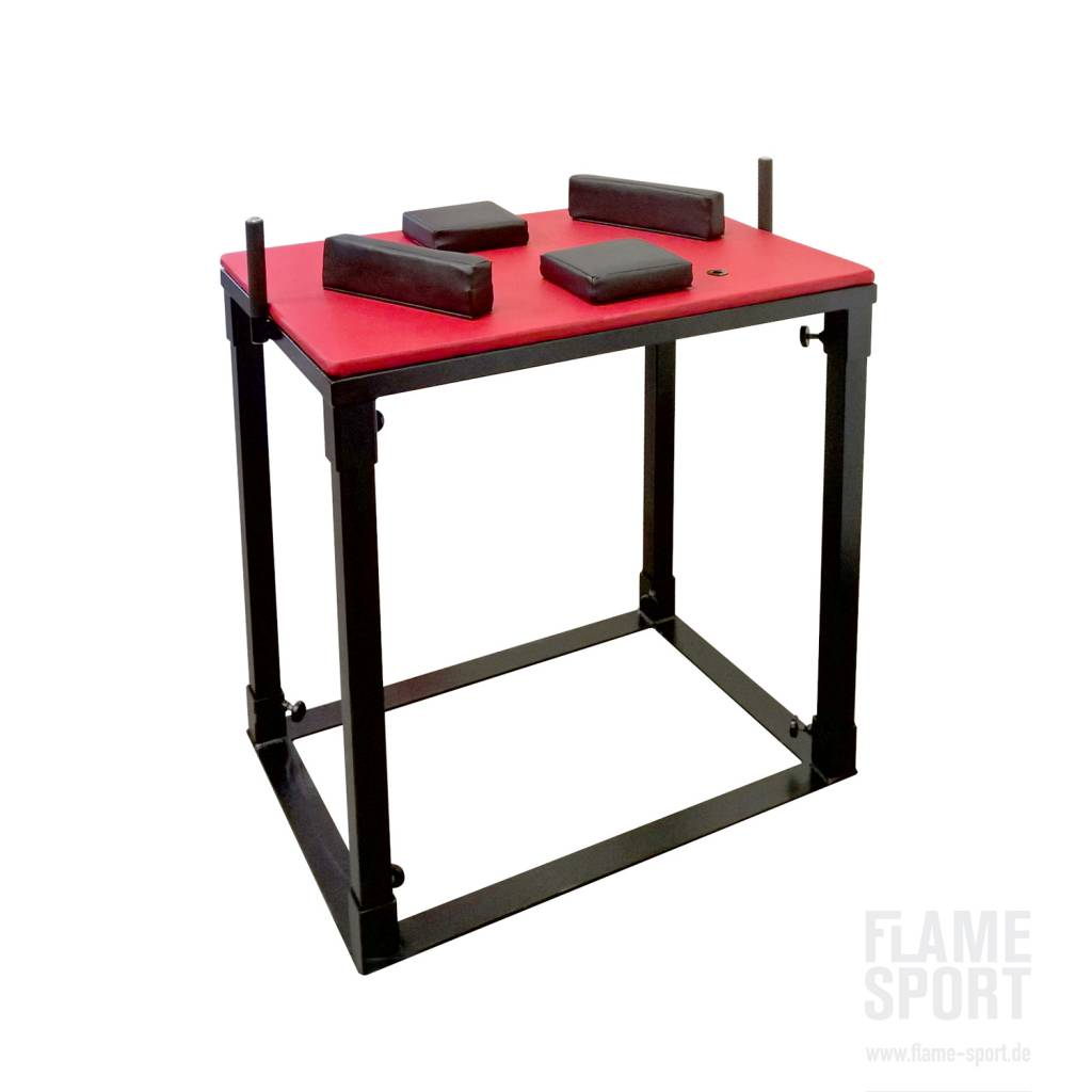 armwrestling table 1i flame sport flame sport professional gym rh flame sport de arm wrestling table dimensions arm wrestling table size