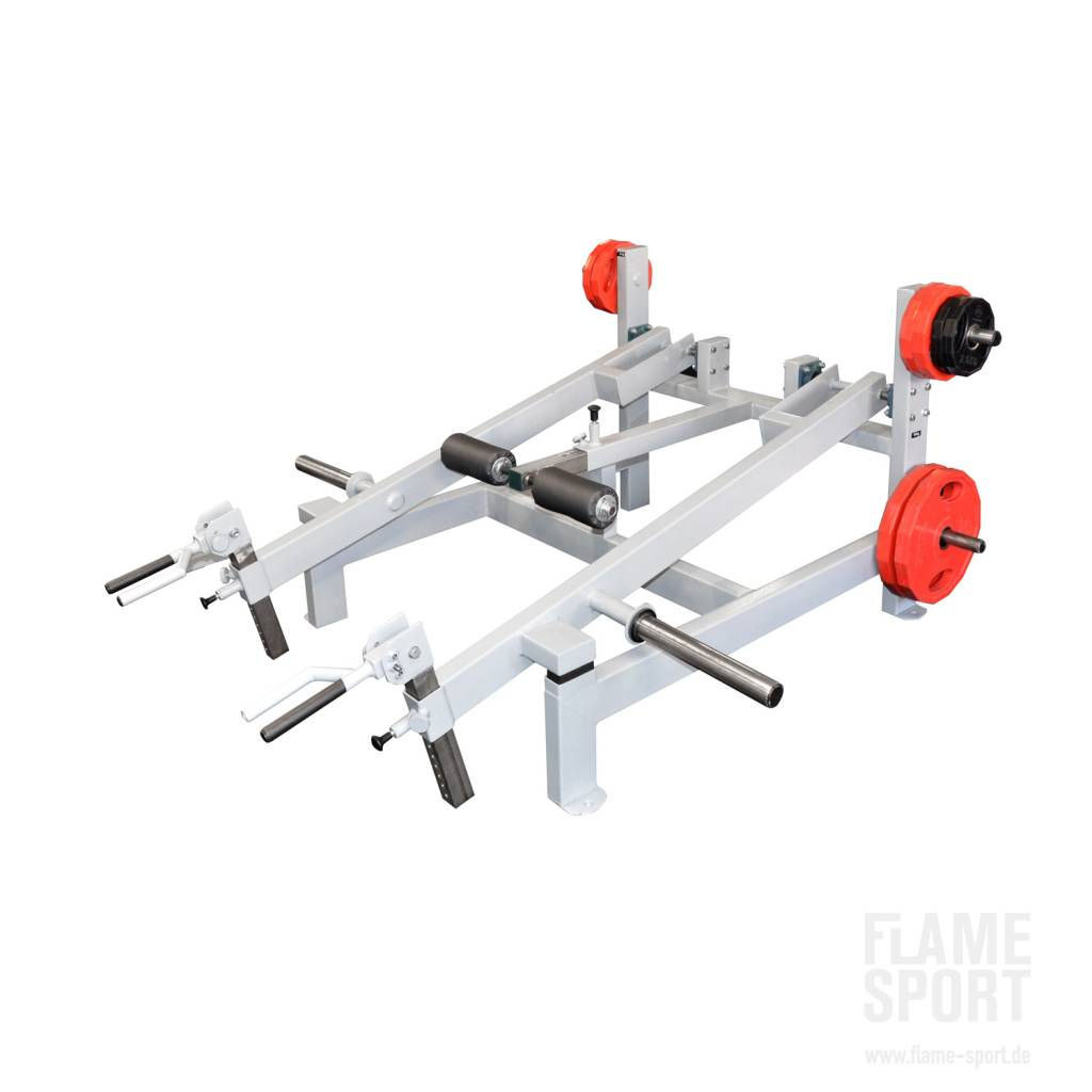 Trapezmuskelmaschine (1G), stehend / Plate loaded