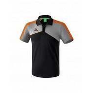 Erima Sportkleding Erima Premium one 2.0 polo Grau/Schwarz/Orange