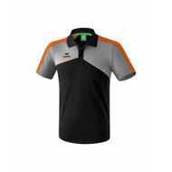Erima Sportkleding Erima Premium one 2.0 polo Grey/Black/Orange