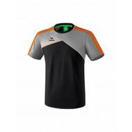 Erima Erima Premium one 2.0 T-shirt Grey/Black/Orange