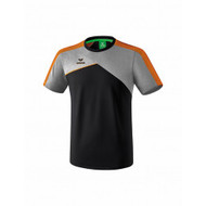 Erima Sportkleding Erima Premium one 2.0 T-shirt Grey/Black/Orange