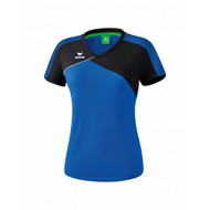 Erima Erima Premium one 2.0 T-shirt Dames Blauw/Zwart