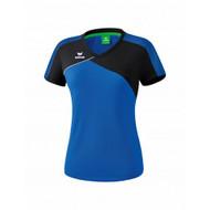 Erima Sportkleding Erima Premium one 2.0 T-shirt Dames Blauw/Zwart
