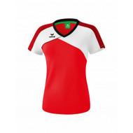 Erima Sportkleding Erima Premium one 2.0 T-shirt Dames Rood/Wit