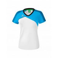 Erima Sportkleding Erima Premium one 2.0 T-shirt Dames Wit/Blauw