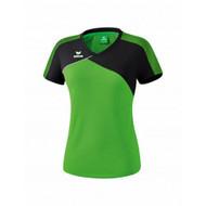 Erima Sportkleding Erima Premium one 2.0 T-shirt Dames Groen/Zwart