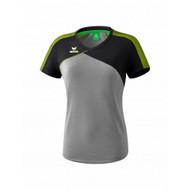 Erima Sportkleding Erima Premium one 2.0 T-shirt Dames Grijs/Zwart