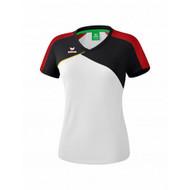 Erima Sportkleding Erima Premium one 2.0 T-shirt Dames Wit/Zwart/Rood