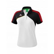 Erima Sportkleding Erima Premium one 2.0 Polo Dames Wit/Zwart/Rood