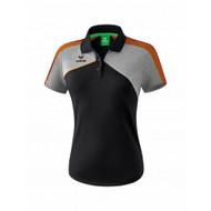 Erima Sportkleding Erima Premium one 2.0 Polo Damen Schwarz/Grau/Orange