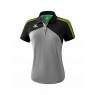 Erima Sportkleding Erima Premium one 2.0 Polo Dames Grijs/Zwart/Groen