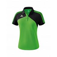 Erima Sportkleding Erima Premium one 2.0 Polo Dames Groen/Zwart