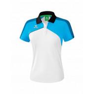 Erima Erima Premium one 2.0 Polo Dames Wit/Blauw