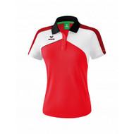Erima Sportkleding Erima Premium one 2.0 Polo Ladies Red/White
