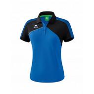 Erima Sportkleding Erima Premium one 2.0 Polo Dames Blauw/Zwart