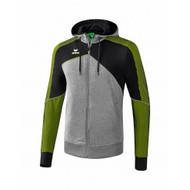 Erima Sportkleding Erima One 2.0 Training jacket with hood Men Green/Black/Grey