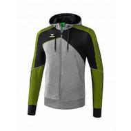 Erima Sportkleding Erima One 2.0 Trainingsjack met capuchon Heren Groen/Zwart/Grijs