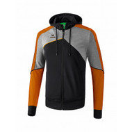 Erima Sportkleding Erima One 2.0 Training jacket with hood Men Orange/Black/Grey - Copy